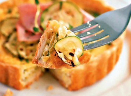 Crostata con zucchine e prosciutto pronta in 5 minuti