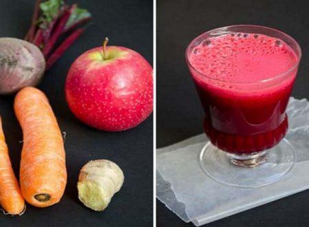 La ricetta del succo di barbabietole, carote e mele che cura molte malattie